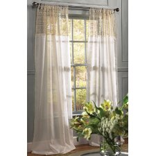 <strong>Xia Home Fashions</strong> Juliette Crochet Tab Top Drape Panel