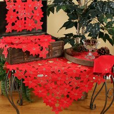 <strong>Xia Home Fashions</strong> Festive Poinsettia Dining Linens Set