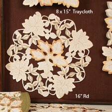 Autumn Forest Cutwork Embroidered Doily (Set of 4)