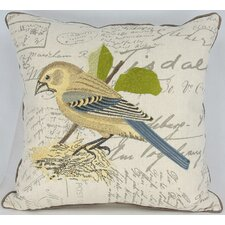 <strong>Manor Luxe</strong> Avian Bird on Nest Cotton Pillow