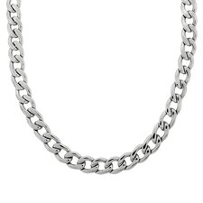 Stainless Steel Thick Curb Link Necklace