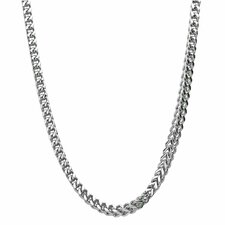 Stainless Steel Thick Foxtail Chain Necklace