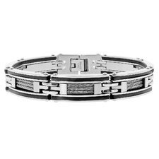 Cable Inlay Link Bracelet