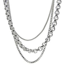 Stainless Steel Triple Layers Necklace