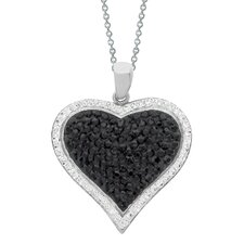 Stainless Steel Heart Swarovski Crystal Necklace