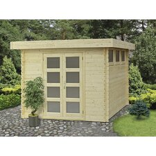 "Moderna 9'9"" W x 9'9"" D Solid Wood Garden Shed"