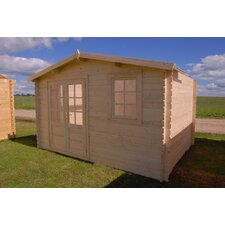 "Optima 12'6"" W x 12'6"" D Solid Wood Garden Shed"