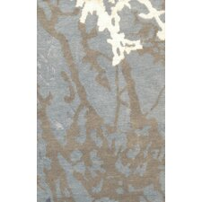 Modern Blue/Brown Traditional Persian Area Rug
