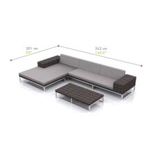 Jane 3 Piece Seating Group with Cushion