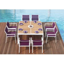 Allux Mazzamiz 9 Piece Dining Set