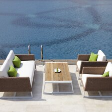 <strong>Mamagreen</strong> Baia 4 Piece Seating Group with Cushions