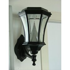 Victorian Nine-LED Solar Light Fixture on Wall Sconce