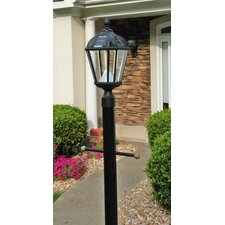 Royal Seven-LED Solar Light Fixture on Three-Inch-Diameter Pole Fitter