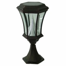 Victorian Nine-LED Solar Light Fixture on Flat Pier Base