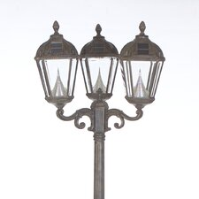 "Victorian 3 Light 89"" Solar Post Lantern Set"