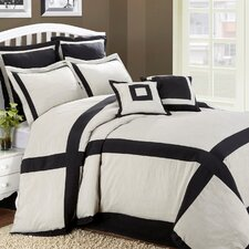 <strong>Home Fashions International</strong> Hotel Intersection 8 Piece King Comforter Set