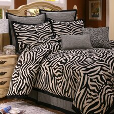 <strong>Home Fashions International</strong> Chawagga 8 Piece Queen Comforter Set