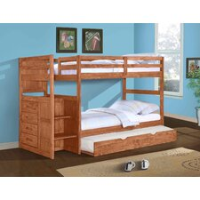 <strong>Donco Kids</strong> Ranch Twin Standard Bunk Bed with Trundle Bed and Stairway