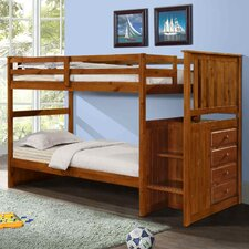 <strong>Donco Kids</strong> Twin Standard Bunk Bed with Stairway