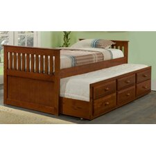 <strong>Donco Kids</strong> Twin Captain Bed with Trundle