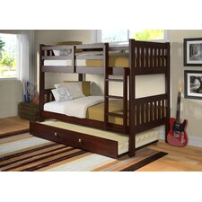 <strong>Donco Kids</strong> Twin Over Twin Bunk Bed with Twin Trundle Bed