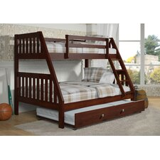 Twin Over Full Bunk Bed with Twin Trundle Bed