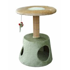 "16"" Lounge Platform with Retreat Cat Tree in Light Green/Beige"