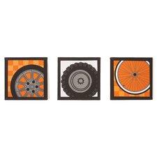 3 Piece Teyo's Tires Canvas Art Set