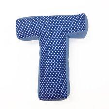 """Simplicity Letter Pillow """"T"""""""