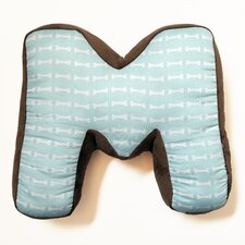 "Puppy Pal Boy Letter Pillow ""M"""