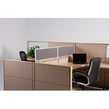 "24"" Cubicle Mounted Privacy Panel with Small Brackets"
