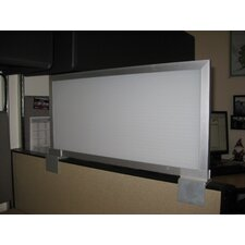 Cubicle Mounted Polycarbonate Privacy Panel with Aluminum Frame