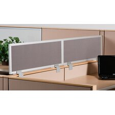Cubicle Mounted Fabric Privacy Panel with Aluminum Frame