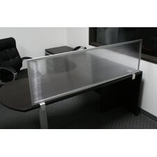 Desk Mounted Polycarbonate Privacy Panel with Aluminum Frame