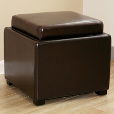<strong>Wholesale Interiors</strong> Orsino Leather Cube Ottoman