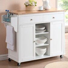 Baxton Studio Meryland Modern Kitchen Cart