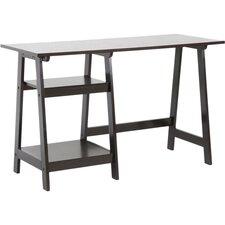 Baxton Studio Modern Writing Desk with Sawhorse Legs
