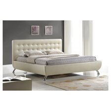 Baxton Studio Elizabeth Pearlized Almond Platform Bed