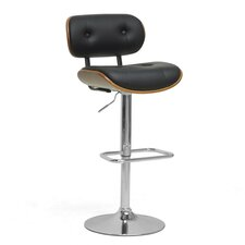 "Baxton Studio Leona Modern 27"" Adjustable Swivel Bar Stool with Cushion"