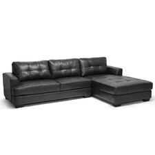 Baxton Studio Dobson Chaise Sectional Sofa with Right Facing Chaise