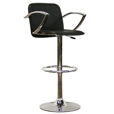 "Baxton Studio Carmen 21"" Adjustable Swivel Bar Stool with Cushion"
