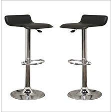 "Baxton Studio Vita 31"" Adjustable Swivel Bar Stool (Set of 2)"
