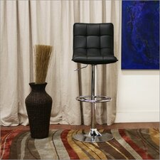 "Baxton Studio Aleena 24"" Adjustable Swivel Bar Stool with Cushion (Set of 2)"