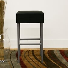 Baxton Studio Andante Faux Leather Counter Stool in Black