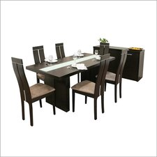 <strong>Wholesale Interiors</strong> Baxton Studio Magness 8 Piece Dining Set