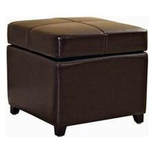 <strong>Wholesale Interiors</strong> Biondello Leather Cube Ottoman