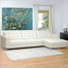 Baxton Studio Babbitt Leather Sectional