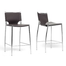 "Baxton Studio Montclare Modern 26"" Counter Stool (Set of 2)"