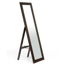 <strong>Wholesale Interiors</strong> Baxton Studio Lund Wood Modern Mirror with Built-In Stand