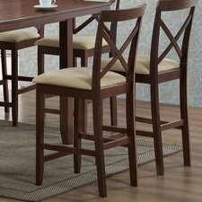 "<strong>Wholesale Interiors</strong> Baxton Studio Natalie Modern 25.13"" Bar Stool with Cushion (Set of 2)"